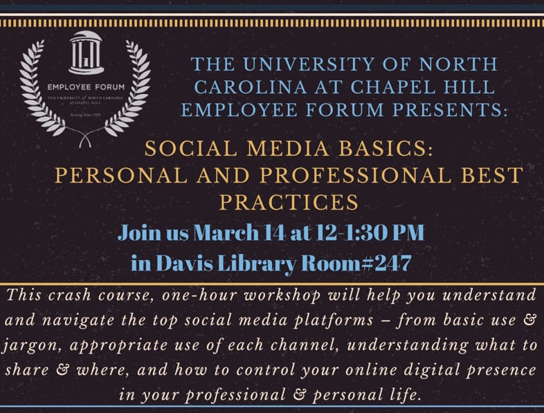 Join us for Social Media Basics: Personal & Professional Best Practices