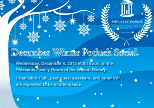 You\'re Invited: Winter Potluck and Social