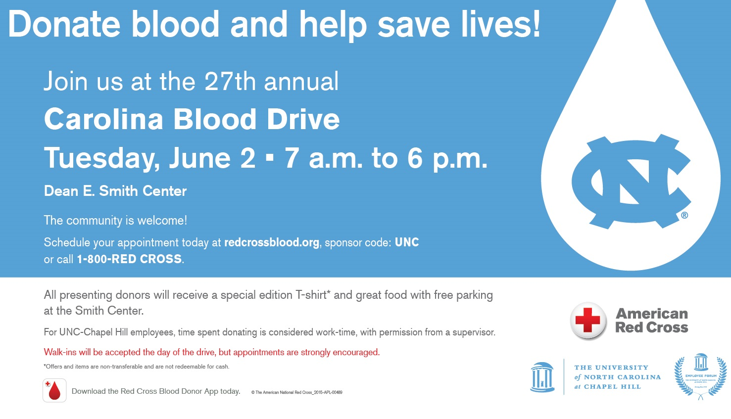 Sign up now for the 27th annual Carolina Blood Drive