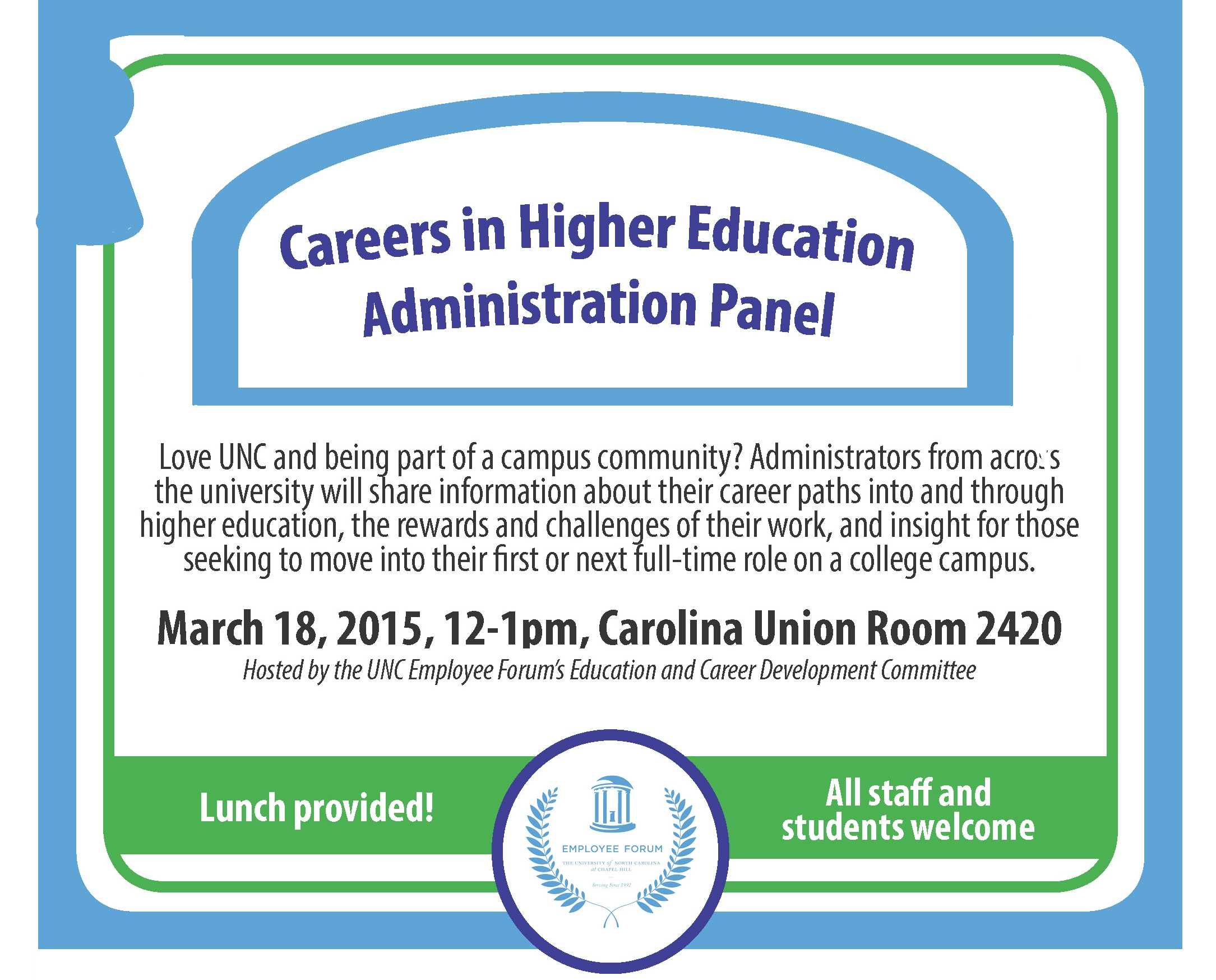 Careers in Higher Ed Administration Panel