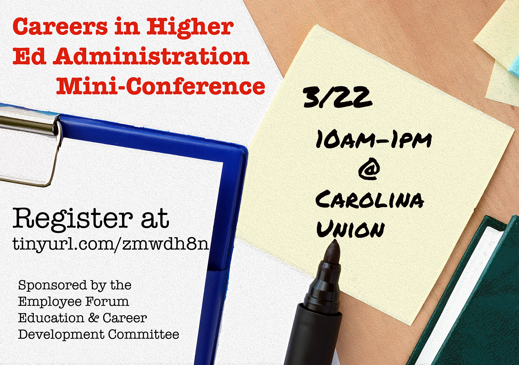 Forum holding Careers in Higher Ed Admin Mini-Conference