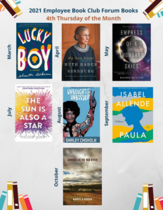 Book Club Selections for 2021